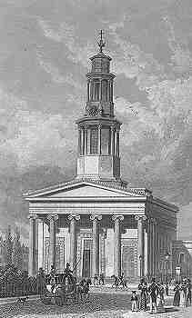 English: St Pancras New Church in London in 18...