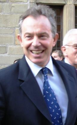 UK prime minister Tony Blair in Osnabruck, Germany