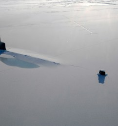 us navy attack submarine uss annapolis rests in the arctic ocean after surfacing through three feet of ice during ice exercise 2009 on 21 march 2009  [ 3000 x 1993 Pixel ]