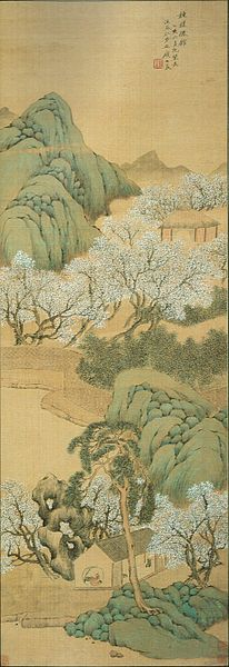 File:'Cottage of the Cultivated Plum Trees', painting by Ch'ien Tu (Qian Du).jpg
