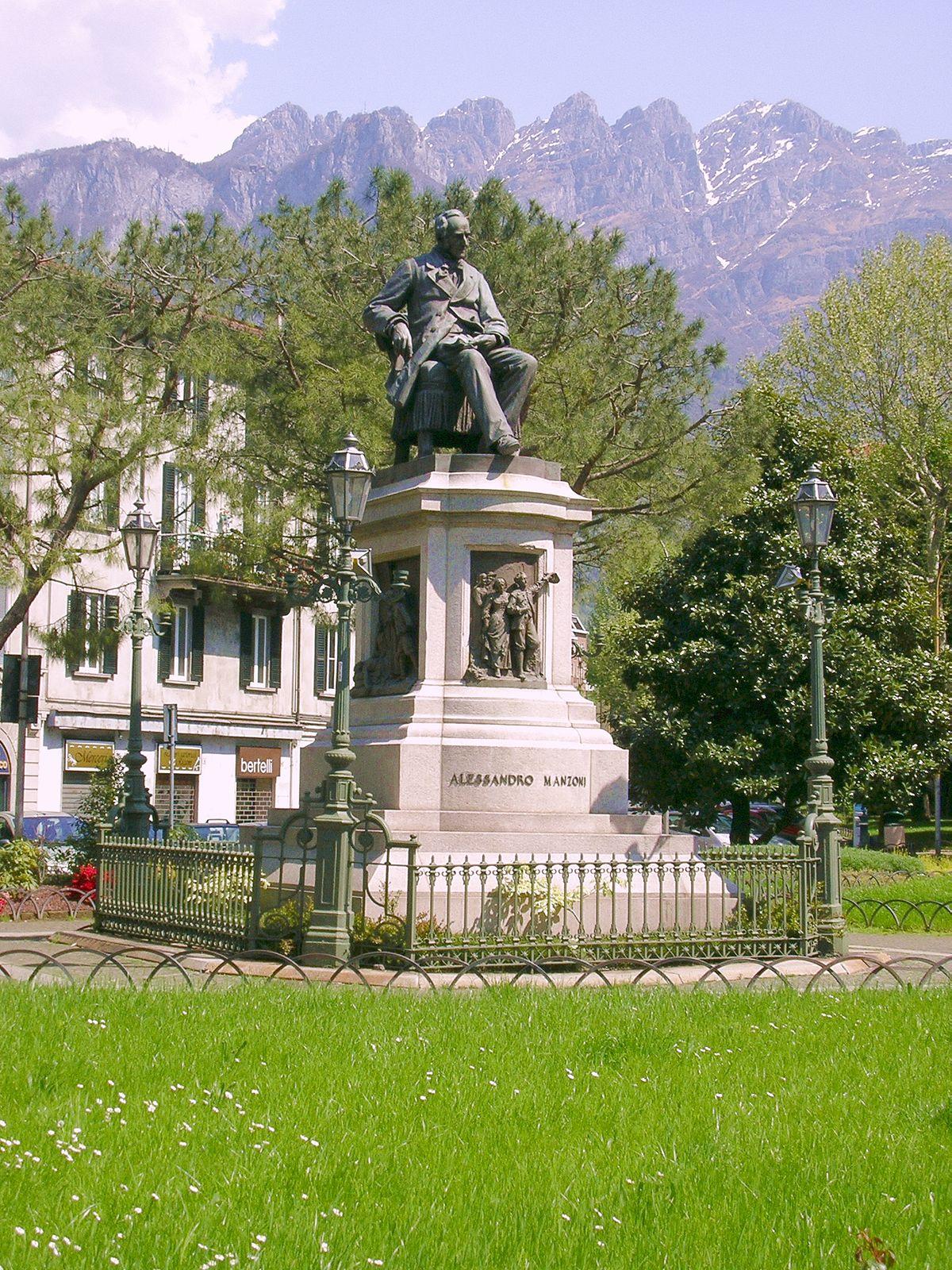 Monumento ad Alessandro Manzoni Lecco  Wikipedia