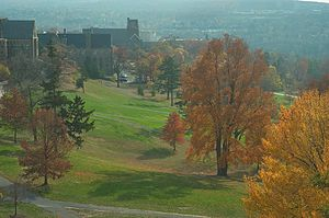 English: Autumn view of the Library Slope of C...