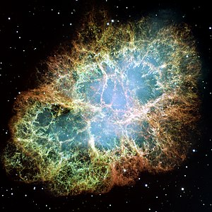 The Crab Nebula, the shattered remnants of a s...
