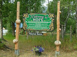 Hope AK - welcome sign