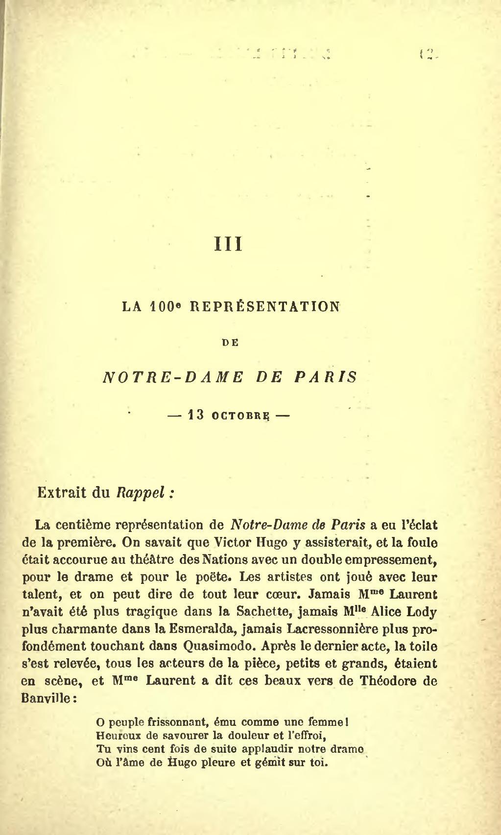 Victor Hugo Notre Dame De Paris Extrait : victor, notre, paris, extrait, Page:Hugo, Actes, Paroles, Volume, 7.djvu/129, Wikisource