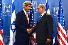 U.S. Secretary of State John Kerry and Netanyahu, Jerusalem, 23 July 2014