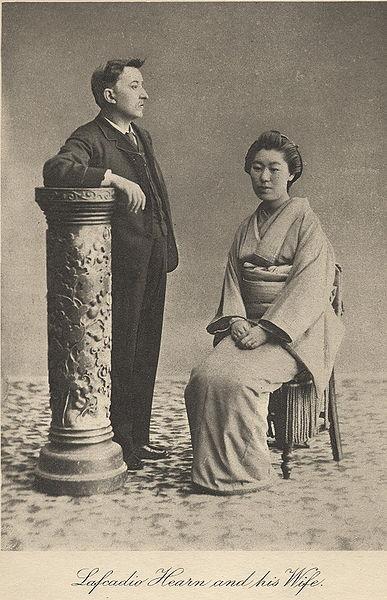 小泉八雲與妻子小泉節子(圖片來源:維基百科)