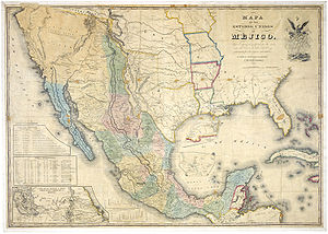 "English: ""Map of the United States of Mex..."