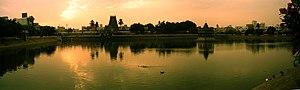 Temple tank of Kapaleeshwarar temple temple at...