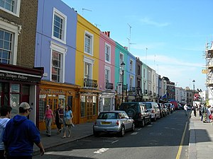 English: Portobello Road, W11. A very colourfu...