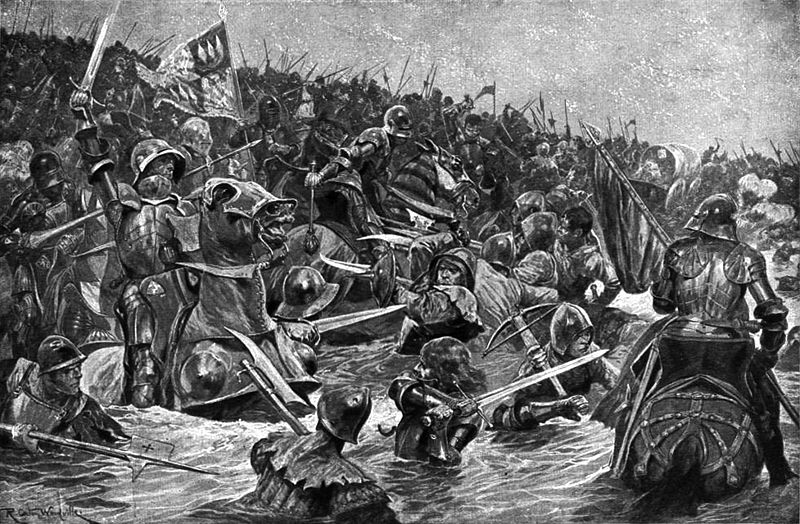 Ficheiro:Richard Caton Woodville's The Battle of Towton.jpg