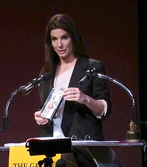 "Sandra Bullock accepting her award for ""W..."