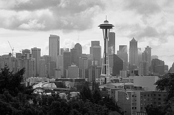 English: Downtown Seattle view from Kerry park
