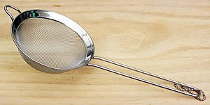 This is a sieve (also known as a strainer).