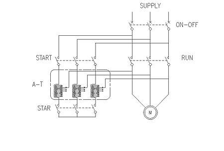 Auto Transformer Starter Control Circuit Diagram