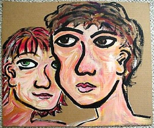 Acrylic on plain cardcoard.
