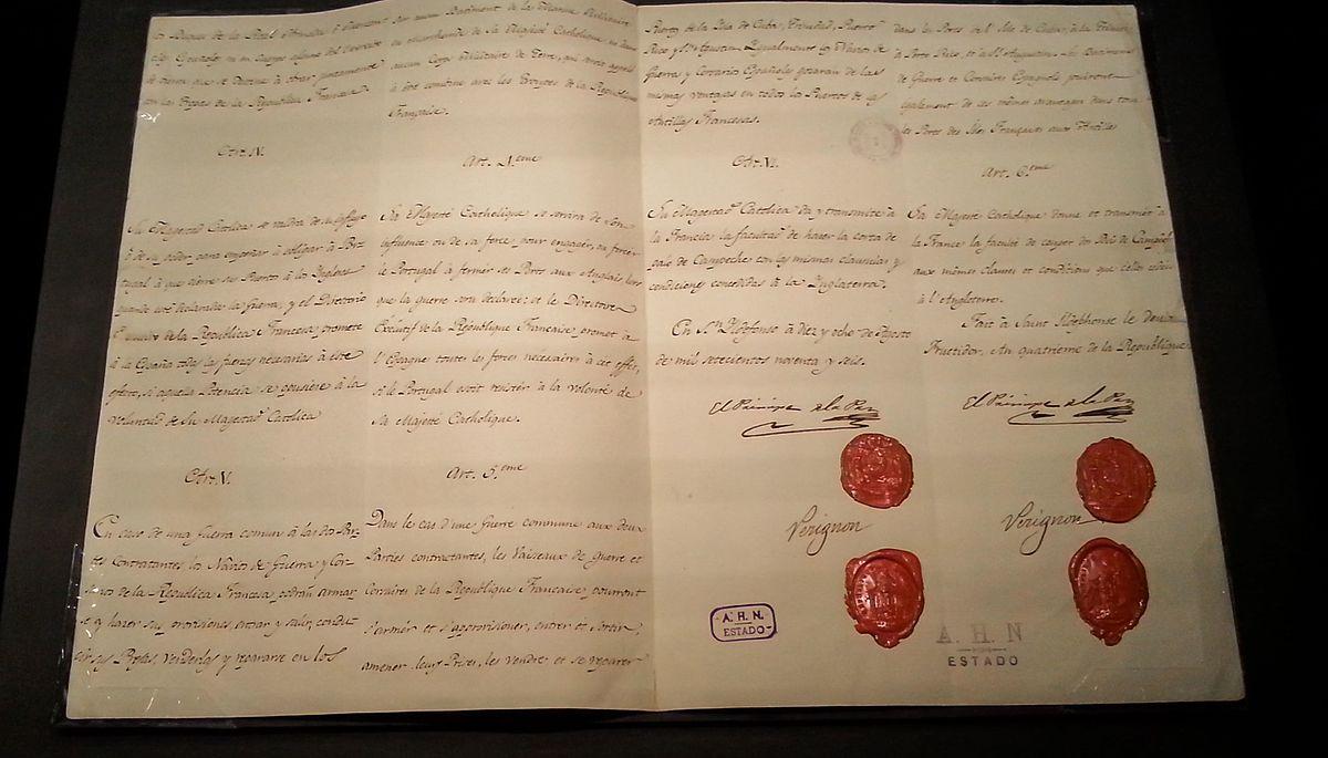 Tratado de San Ildefonso 1796  Wikipedia la