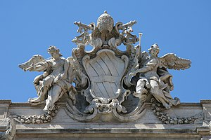 English: Details of Trevi Fountain, Rome, Italy