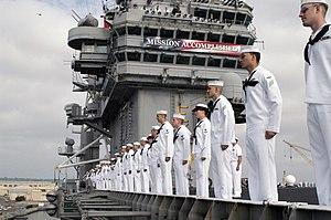 US Navy 030502-N-8497H-015 Sailors aboard USS ...