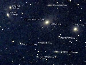 Photo of the Center of the Virgo Cluster of Ga...
