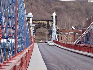 Wheeling Suspension Bridge, Wheeling, West Vir...