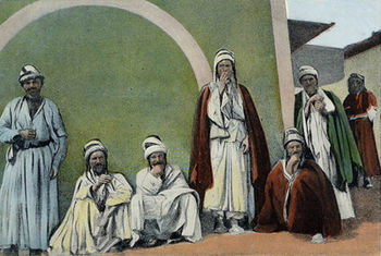 Yazidi men in Mardin, late 19th century