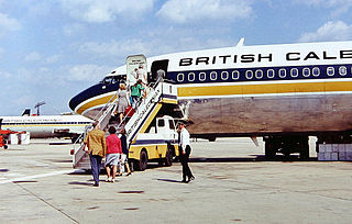 British Caledonian Boeing 707 at Gatwick Airpo...