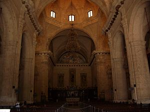 English: Interior of the Cathedral of Havana, ...