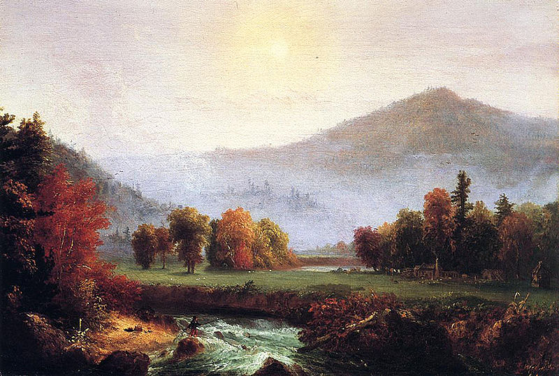 File:Cole Thomas Morning Mist Rising Plymouth New Hampshire (A View in the United States of American in Autunm 1830.jpg