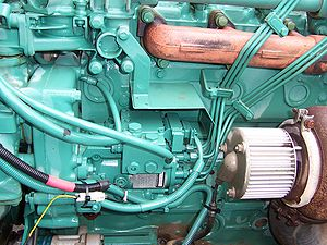 diesel fuel pump on the engine