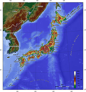 Japan is extremely mountainous, with very litt...