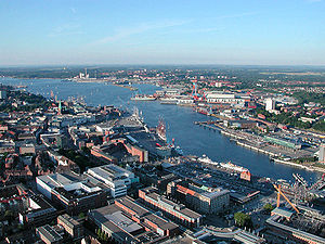 "aerial photo of the ""Kieler Förde"", ..."