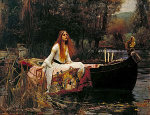 The Lady of Shalott, based on The Lady of Shal...