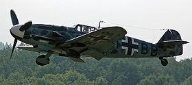 Un Messerschmitt Bf 109-G toujours en vol en 2005