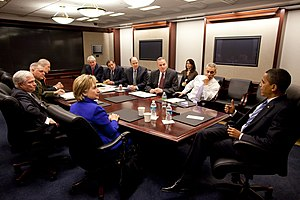 English: A March 2009 meeting of the United St...