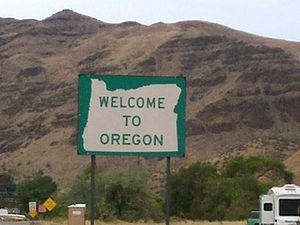 Welcome to Oregon Sign (photo credit: Wikipedia)