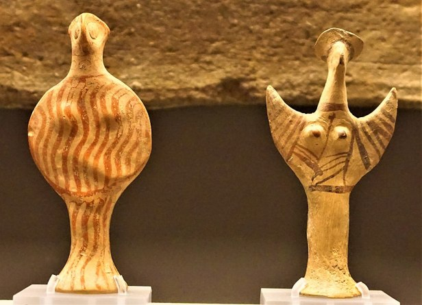 Phi-type and Psi-type Mycenaean Female Figurines - Museum of Cycladic Art, Athens - Joy of Museums