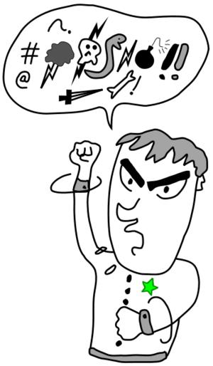 swearing in cartoon