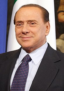 Silvio Berlusconi, the 50th prime minister of Italy, who is often compared with Donald J. Trump.