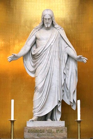 Statue of Christ, by Thorvaldsen, Vor Frue Kir...
