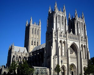The Washington National Cathedral, also known ...