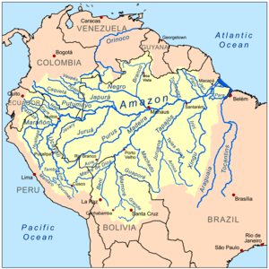 This is a map of the Amazon River drainage basin.