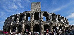 English: Arles Amphitheatre Français : Les Arè...