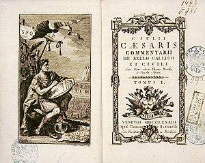 Commentarii de Bello Gallico, an account writt...