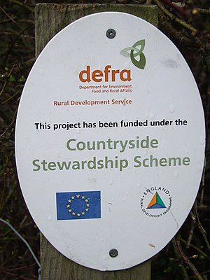 English: Countryside Stewardship Scheme sign A...