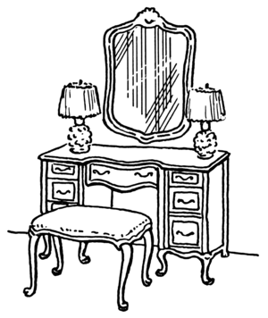 Dressing table (PSF)