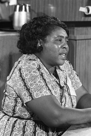 Fannie Lou Hamer, American civil rights leader...