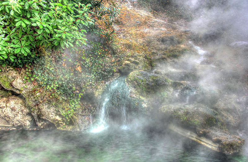 Arkansas Hot Springs Flowing Down