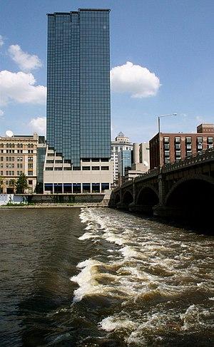 The Grand River. Grand Rapids, Michigan. Amway...