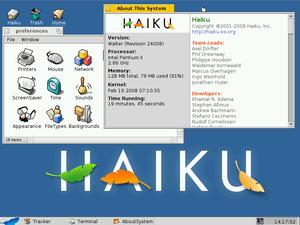 English: Haiku as of February 19, 2008
